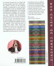 Basset Hound - 4ème de couverture - Format classique