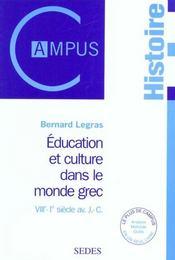 Education Et Societe Dans Le Monde Grec - Intérieur - Format classique