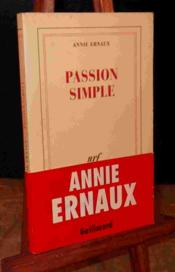 Vente  Passion simple  - Annie Ernaux