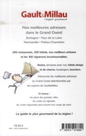 Guide grand Ouest ; Bretagne, Pays de la Loire, Normandie, Poitou-Charentes - 4ème de couverture - Format classique