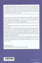 Thermodynamique Fiches Methodes Et Problemes Corriges 1re Annee Mpsi-Pcsi-Ptsi-Tsi - 4ème de couverture - Format classique
