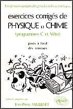 Exercices Corriges De Physique Chimie Agro-Veto - Couverture - Format classique
