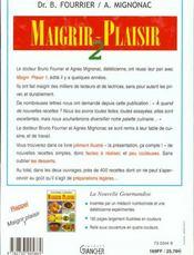 Maigrir plaisir t.2 - 4ème de couverture - Format classique