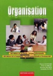 Organisation 2de Bep Ms/2de Ter Bep Mc - Couverture - Format classique