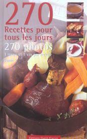 270 recettes pour tous les jours tome 2 - Intérieur - Format classique