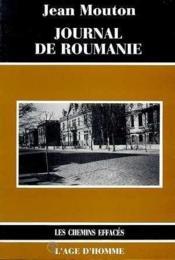 Journal De Roumanie - Couverture - Format classique