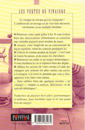 Vertus Du Vinaigre - 4ème de couverture - Format classique