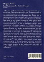 Les Nuits Chaudes Du Cap Francais - 4ème de couverture - Format classique