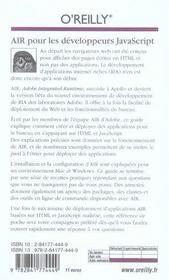Air pour les developpeurs javascript precis et concis - 4ème de couverture - Format classique