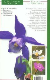 Fleurs De Montagne - 4ème de couverture - Format classique