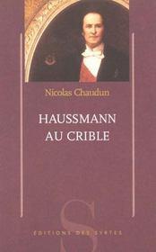 Haussmann au crible - Intérieur - Format classique
