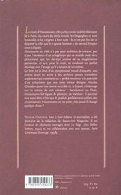 Haussmann au crible - 4ème de couverture - Format classique