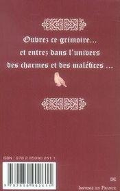 Le grimoire de poche d'émilie - 4ème de couverture - Format classique