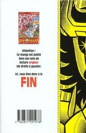 Les chevaliers du zodiaque t.16 - 4ème de couverture - Format classique