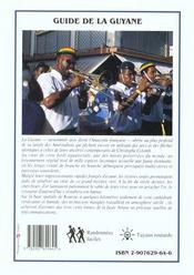 La Guyane - 4ème de couverture - Format classique