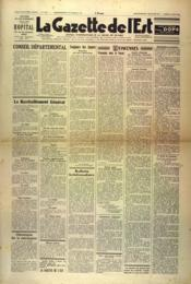 Gazette De L'Est (La) N°1600 du 15/05/1948 - Couverture - Format classique