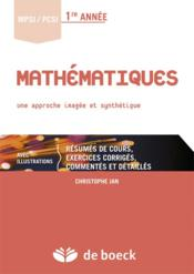Mathématiques ; une approche imagée et synthétique - Couverture - Format classique