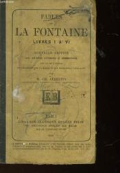 Fables De La Fontaine Livre I A Vi - Couverture - Format classique