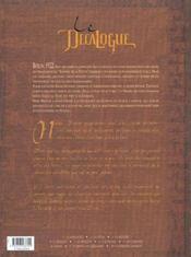 Le décalogue t.5 ; le vengeur - 4ème de couverture - Format classique
