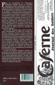La grande illusion ? le parti communiste français et la défense nationale à l'époque du front populaire - 4ème de couverture - Format classique