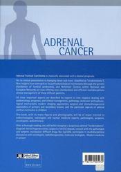 Adrenal cancer - 4ème de couverture - Format classique
