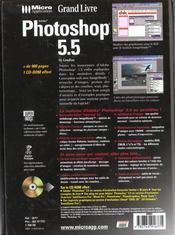 Grand livre photoshop 5.5 - 4ème de couverture - Format classique