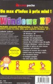 Windows Xp - 4ème de couverture - Format classique