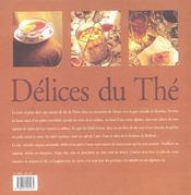 Le delice du the - 4ème de couverture - Format classique