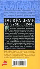 Du realisme au symbolisme - 4ème de couverture - Format classique