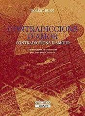 Contradiccions Damor Contradictions Damour - Couverture - Format classique