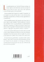 Le grand livre du pendul - 4ème de couverture - Format classique