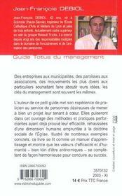 Guide totus - du management - 4ème de couverture - Format classique
