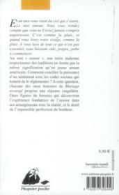 Mariage arrangé (edition 2006) - 4ème de couverture - Format classique