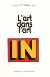 L'art dans l'art ; litterature musique et arts visuels - Couverture - Format classique
