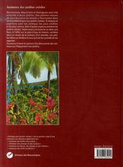 Animaux des jardins creoles - 4ème de couverture - Format classique