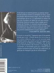 L'Art Et Les Hommes - 4ème de couverture - Format classique