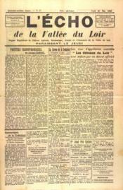 Echo De La Vallee Du Loir (L') N°57 du 20/05/1948 - Couverture - Format classique