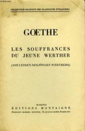Les Souffrances Du Jeune Werther - Die Leiden Des Jungen Werthers - Couverture - Format classique