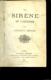 La Sirene De L'Argonne - Couverture - Format classique