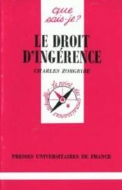 Vente  Le droit d'ingerence qsj 2916  - Charles Zorgbibe - Zorgbibe C