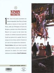 Ninon secrète t.4 ; escarmouches - 4ème de couverture - Format classique