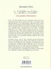 Le verfügbar aux enfers ; une opérette à Ravensbrück - 4ème de couverture - Format classique