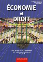 Economie-Droit Seconde Professionnelle - Couverture - Format classique
