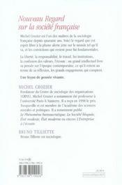 Nouveau regard sur la société française - 4ème de couverture - Format classique