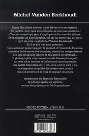 Michel vanden eeckhoudt - 4ème de couverture - Format classique