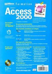 Formation access 2000 - 4ème de couverture - Format classique