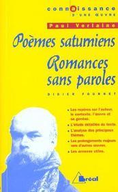Poemes Saturniens-Romances... - Verlaine - Intérieur - Format classique