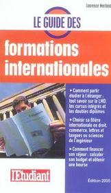 Le Guide Des Formations Internationales - Intérieur - Format classique