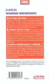 Le Guide Des Formations Internationales - 4ème de couverture - Format classique