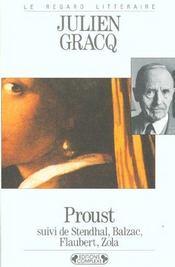 Proust ; Stendhal, Balzac, Flaubert, Zola - Intérieur - Format classique